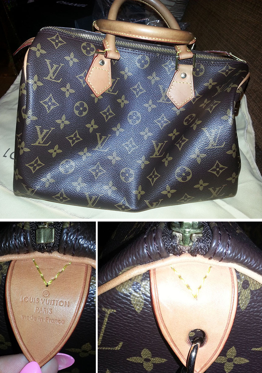 da78b7877a65 Louis Vuitton Speedy Bag Authenticity - 4 different fakes