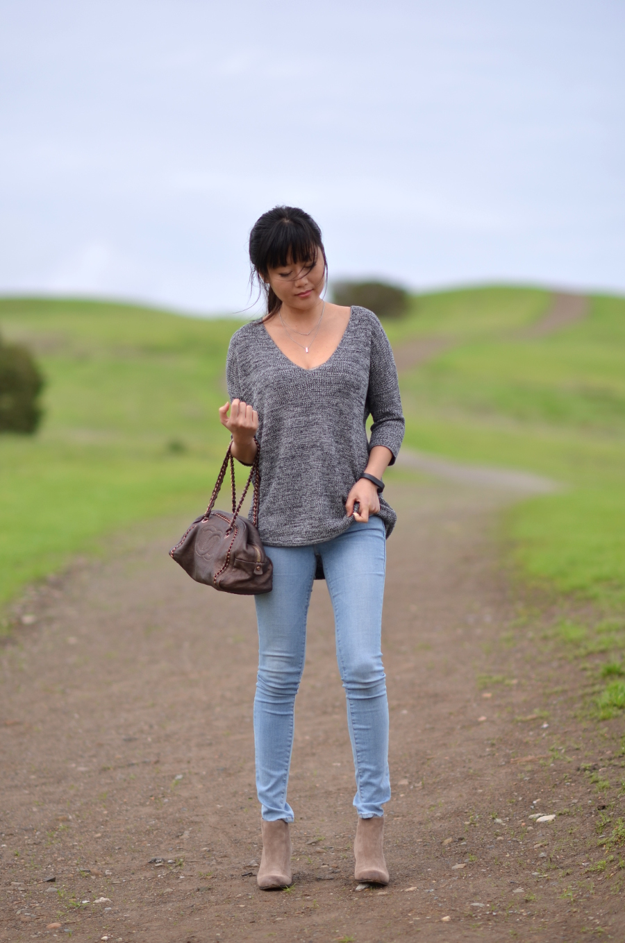 warm fall sweater outfit