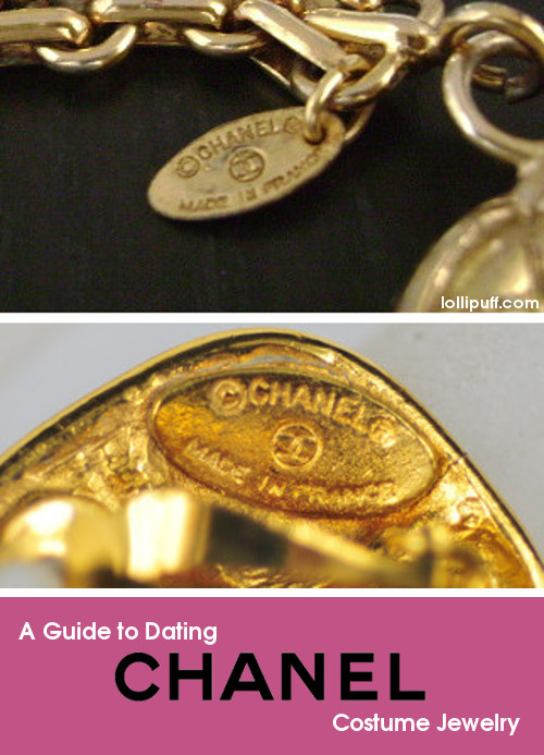 Dating Chanel Costume Jewelry by Stamping Marks Lollipuff