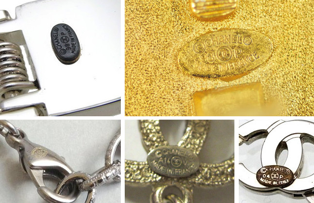authentic Chanel jewelry stamp mark hallmark