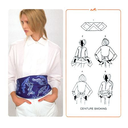 how to wear hermes 140 scarf as a top
