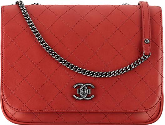 08839fb1fac0 Chanel Spring Summer Collection Season Bags Handbags Purses. Red Calfskin  Messenger ...