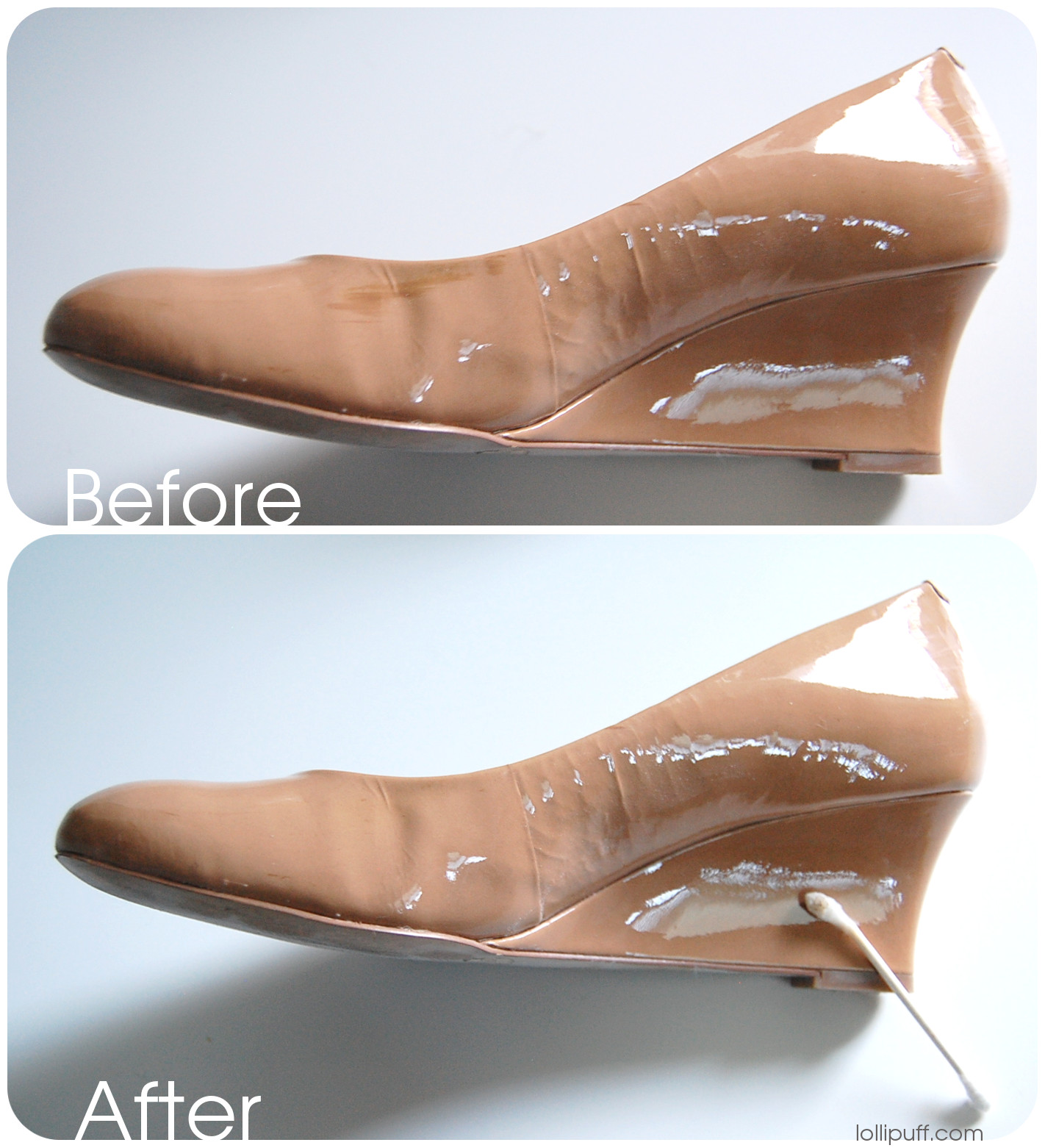 how to remove scuff stain from patent leather shoe. Black Bedroom Furniture Sets. Home Design Ideas