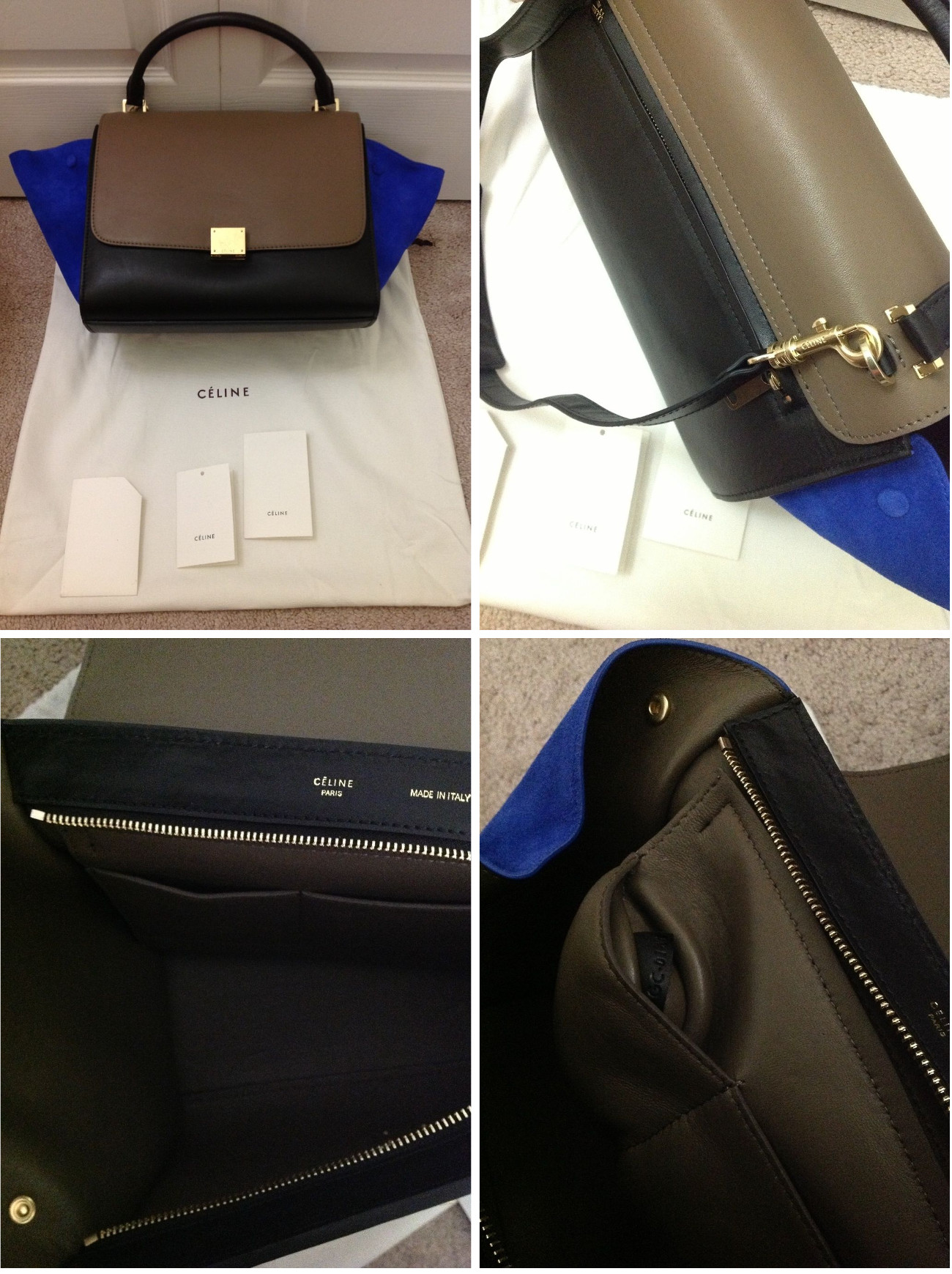 celine white bag - Celine Trapeze Luggage Bag Authentication Quiz | Lollipuff