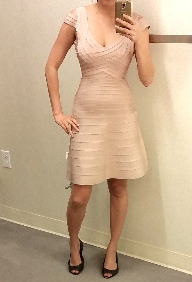 a line Herve Leger dress