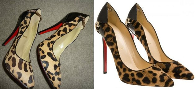 57823546dfa leopard Dorepi chain heel shoes. Authenticating Louboutin ...