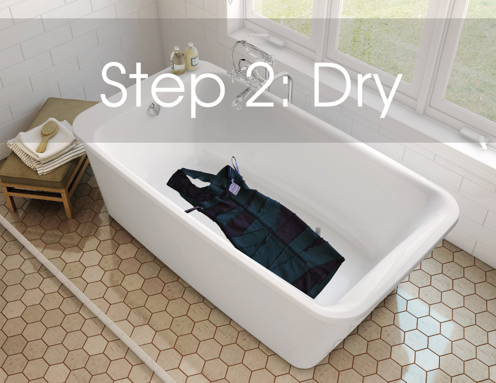 how to dry wet herve leger dress clothing bathtub