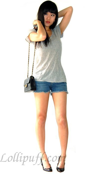 chanel mini bag quilted chain with shorts outfit
