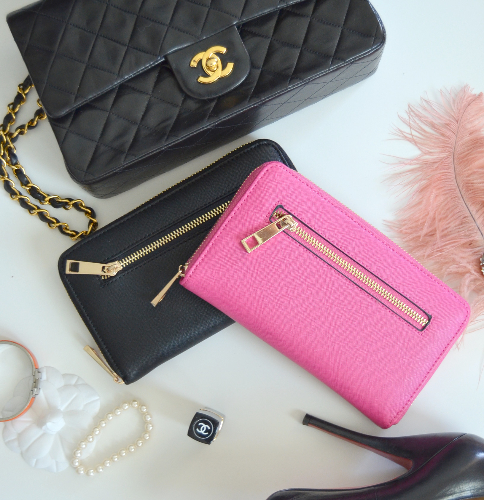 full size wallet in chanel flap bag