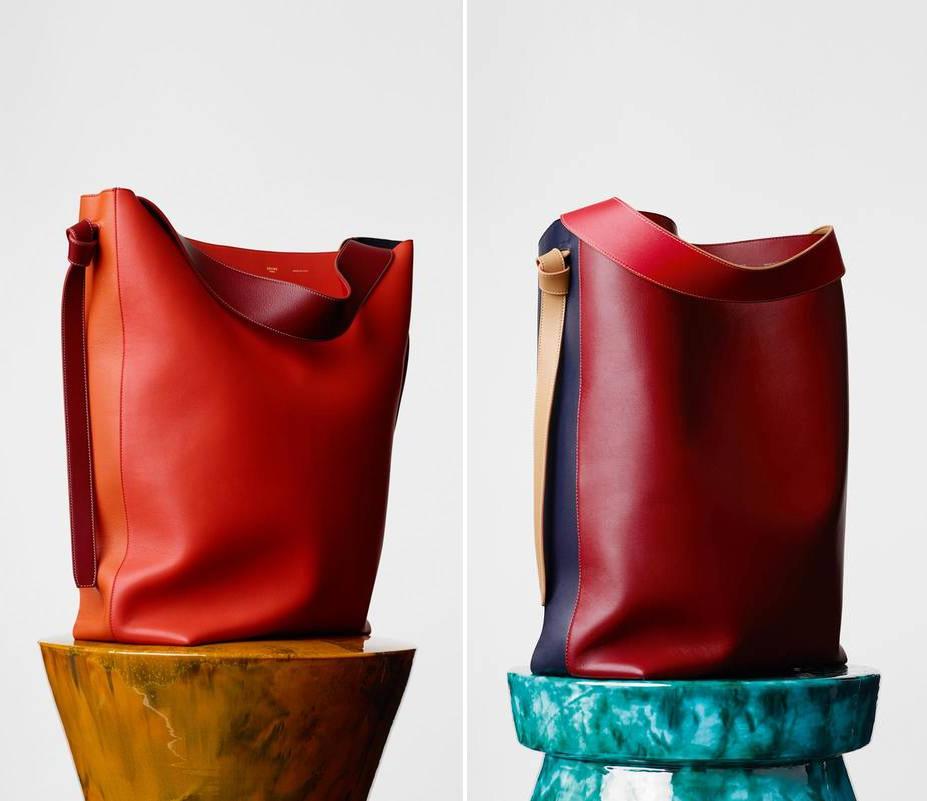 celine navy cloth handbag cabas