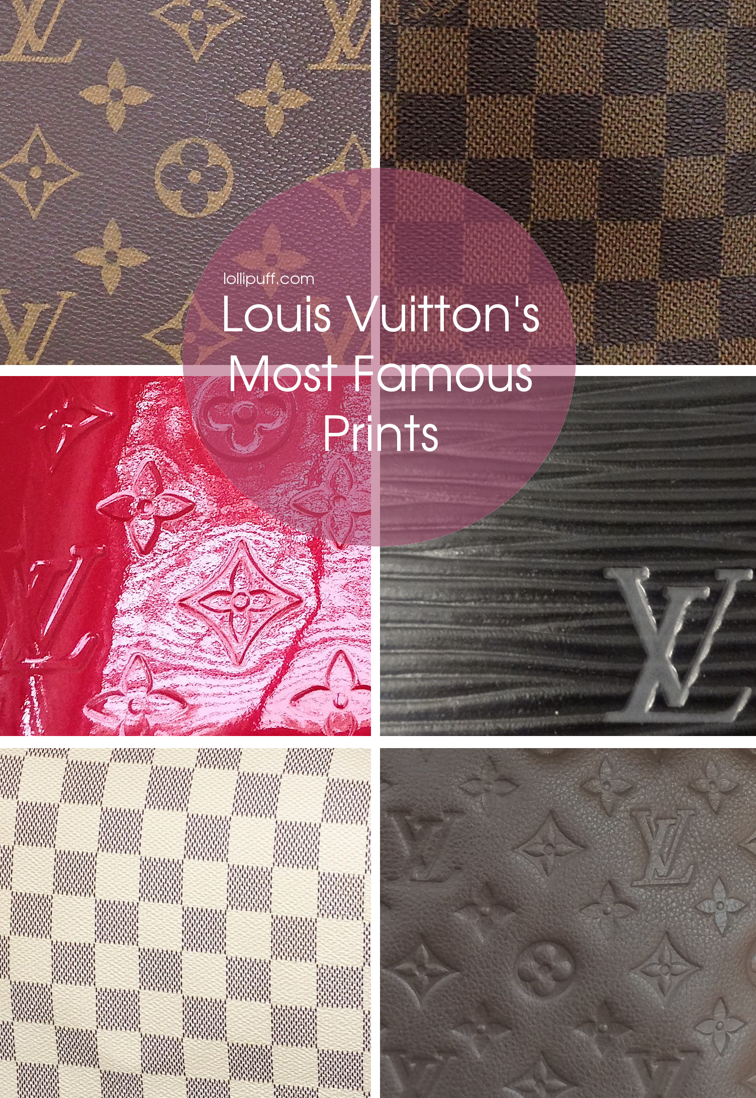 377c6062659f Different Louis Vuitton Prints and Patterns