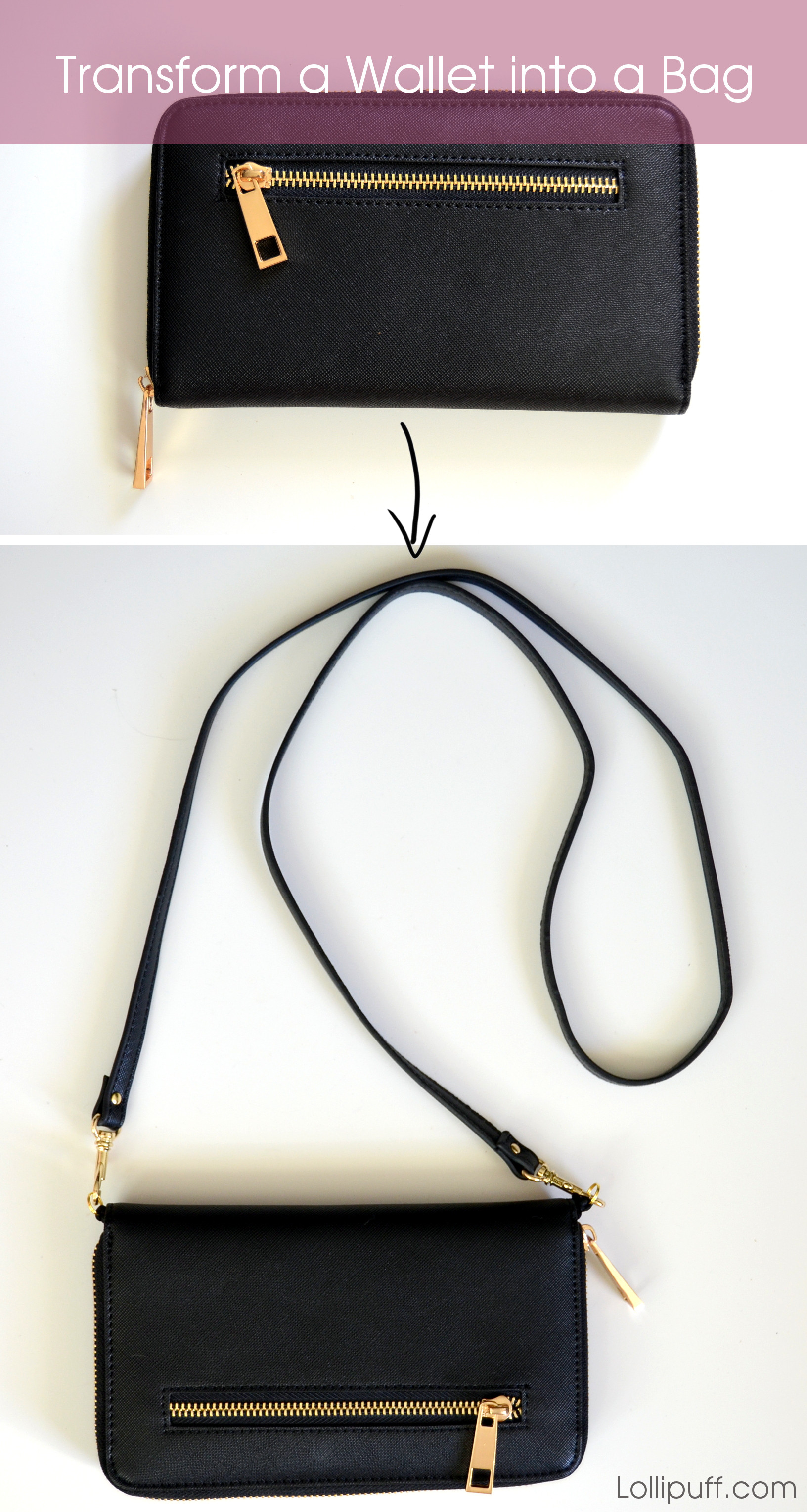 how to add shoulder straps to wallet