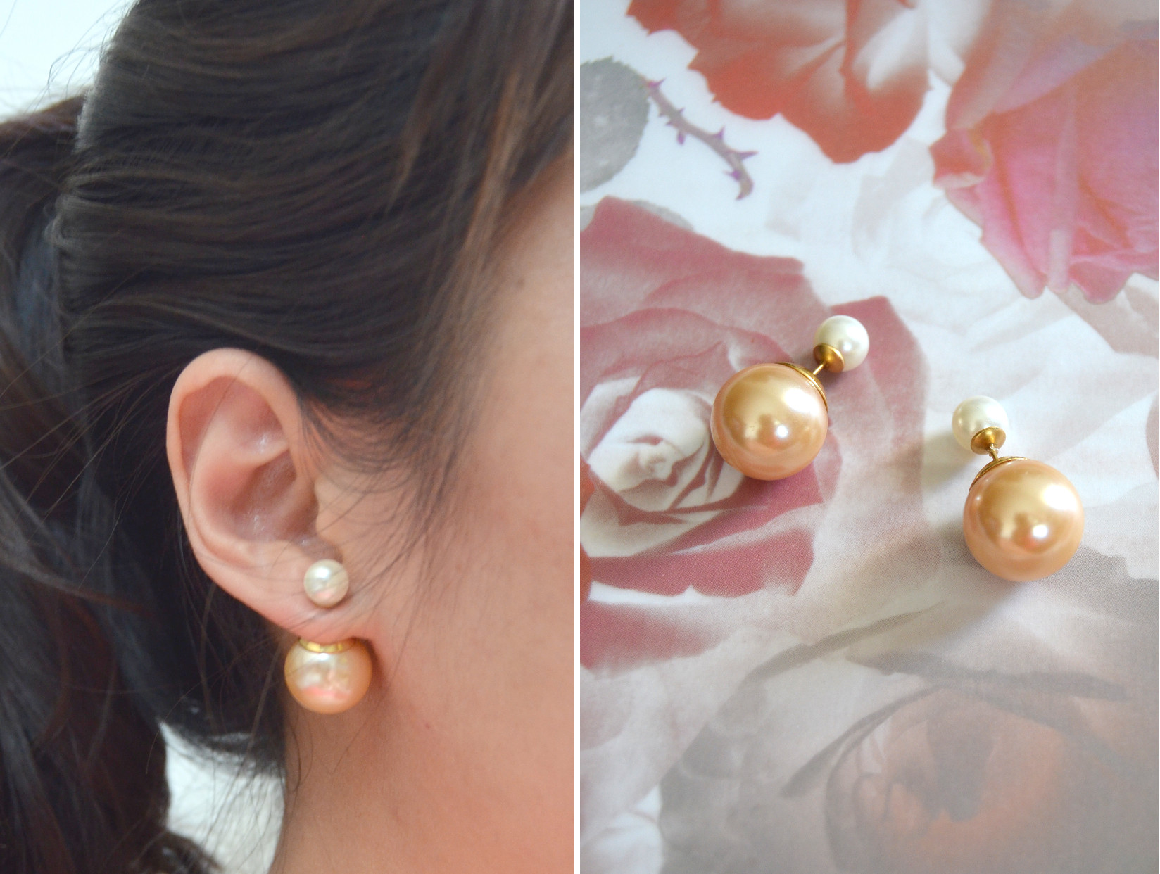 basement wall giant stud earrings extra large model studs on pearl earring