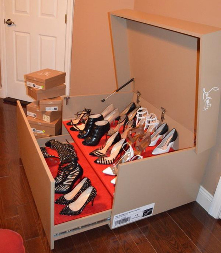 huge Christian Louboutin shoe box furniture chest drawer
