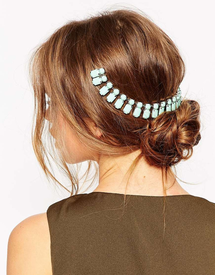 jeweled gem hairpiece hair accessory