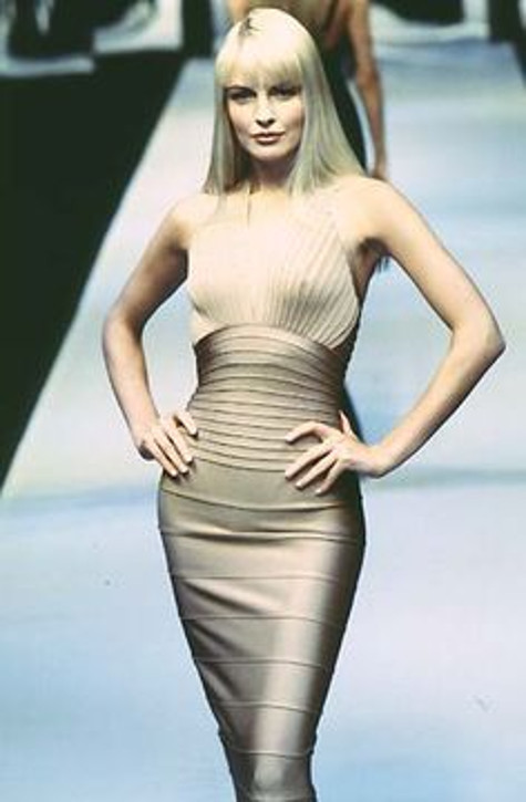 vintage herve leger leroux runway fashion dresses bandage bodycon