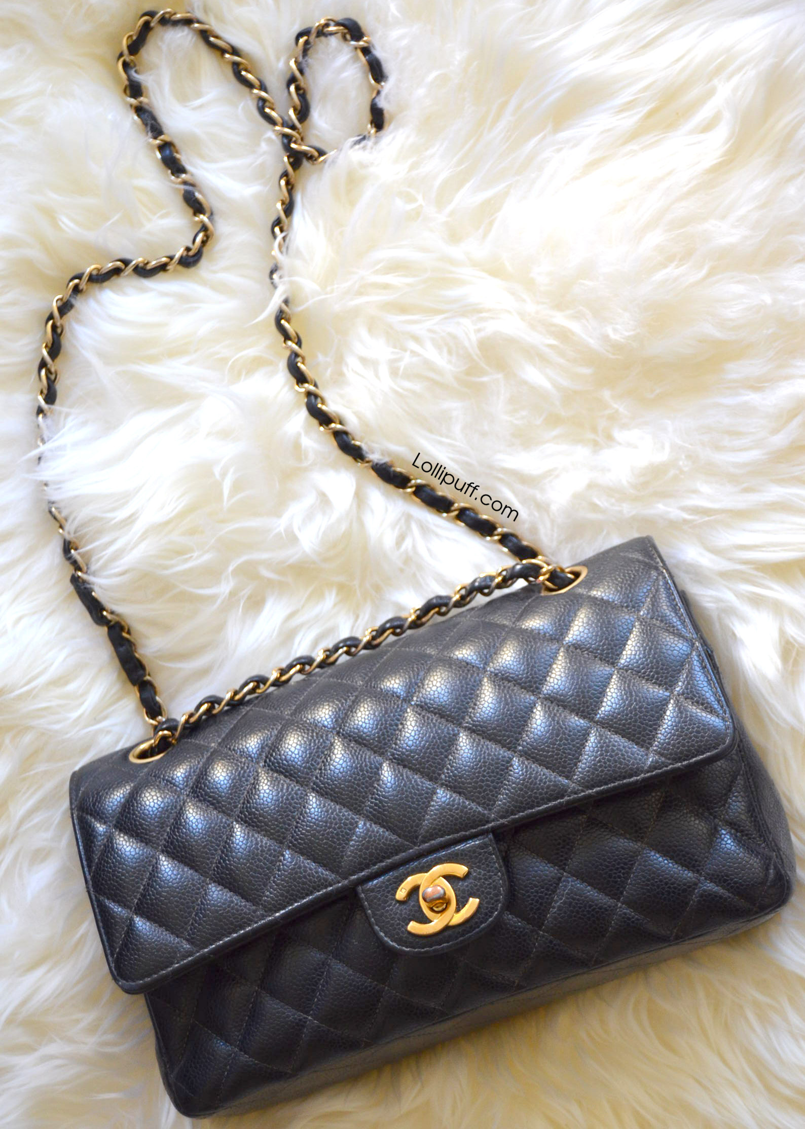 a98d673afa5b classic 2.55 black caviar leather quilted chanel double flap shoulder bag