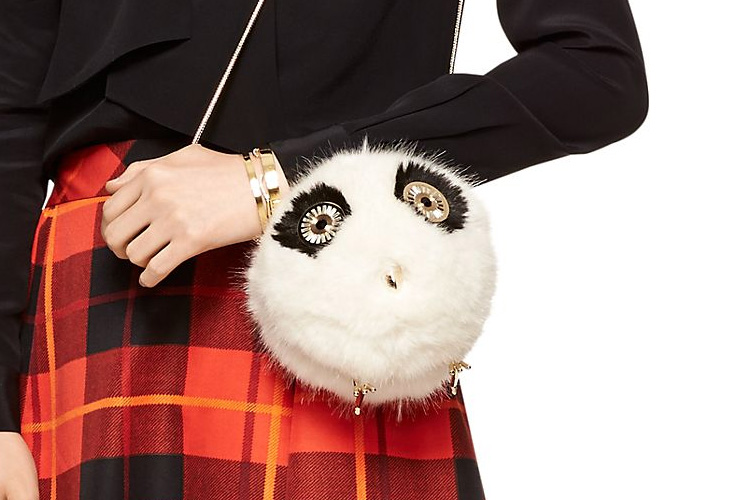 furry fuzzy owl shoulder bag