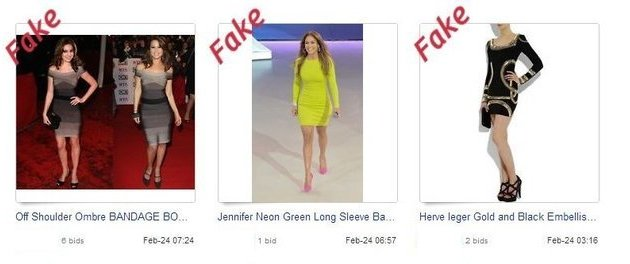 Fake Counterfeit replica Herve Leger on eBay