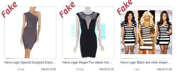 Copied Herve Leger on eBay