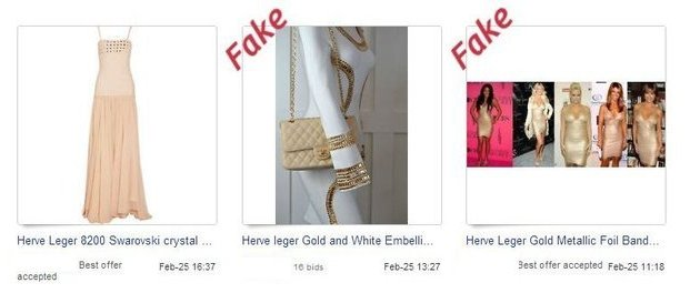 Fake Herve Leger on eBay 4