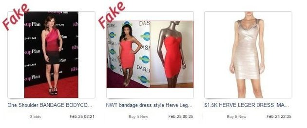 Fake designer items on eBay