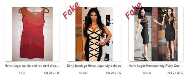 Fake luxury items on eBay