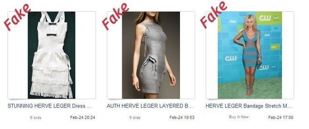 Fake clothing on eBay