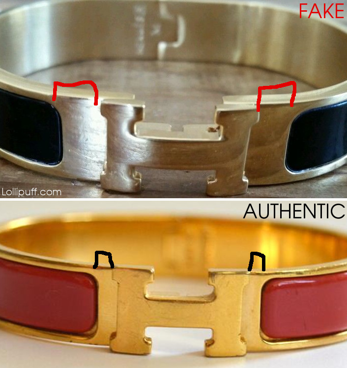 fake authentic Hermes bracelet H bangle letter authentication authenticate