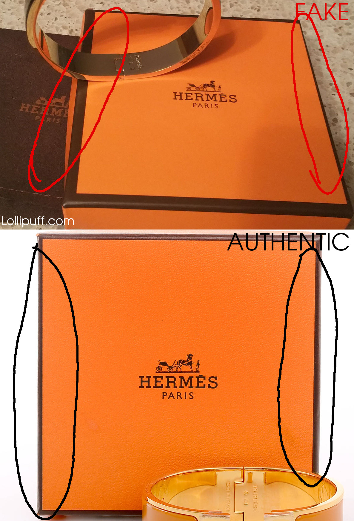 hermes box packaging accessory authenticate authentication