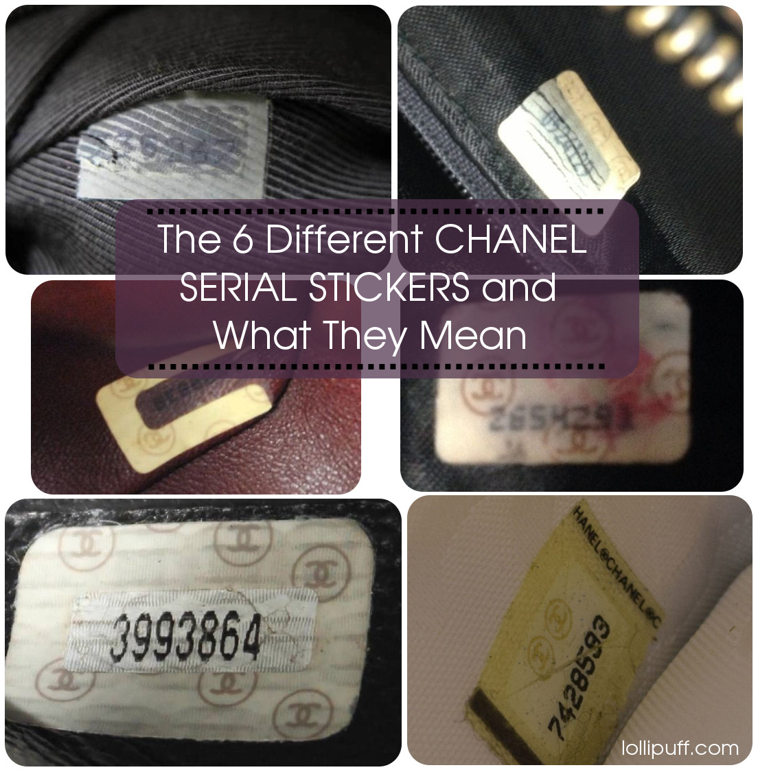 chanel serial sticker dating styles vintage modern