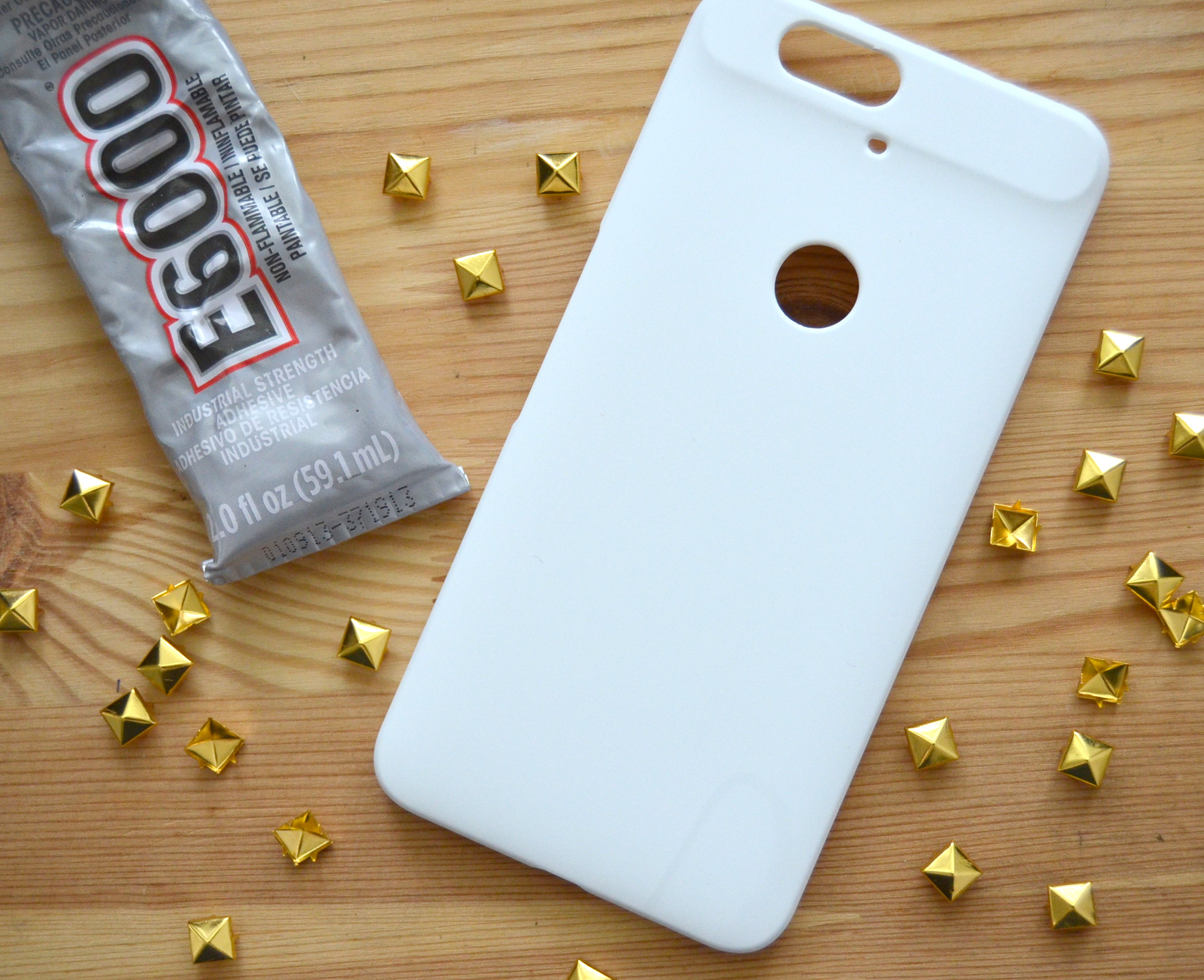 E-6000 glue metal studs phone case cover