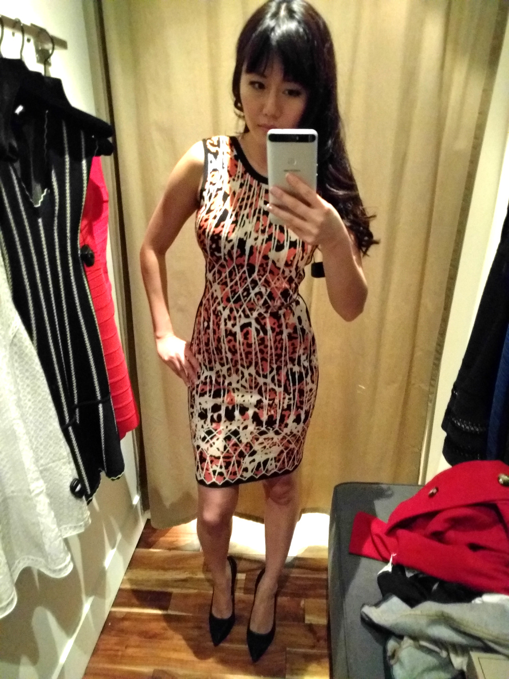 leopard animal print sleeveless herve leger dress