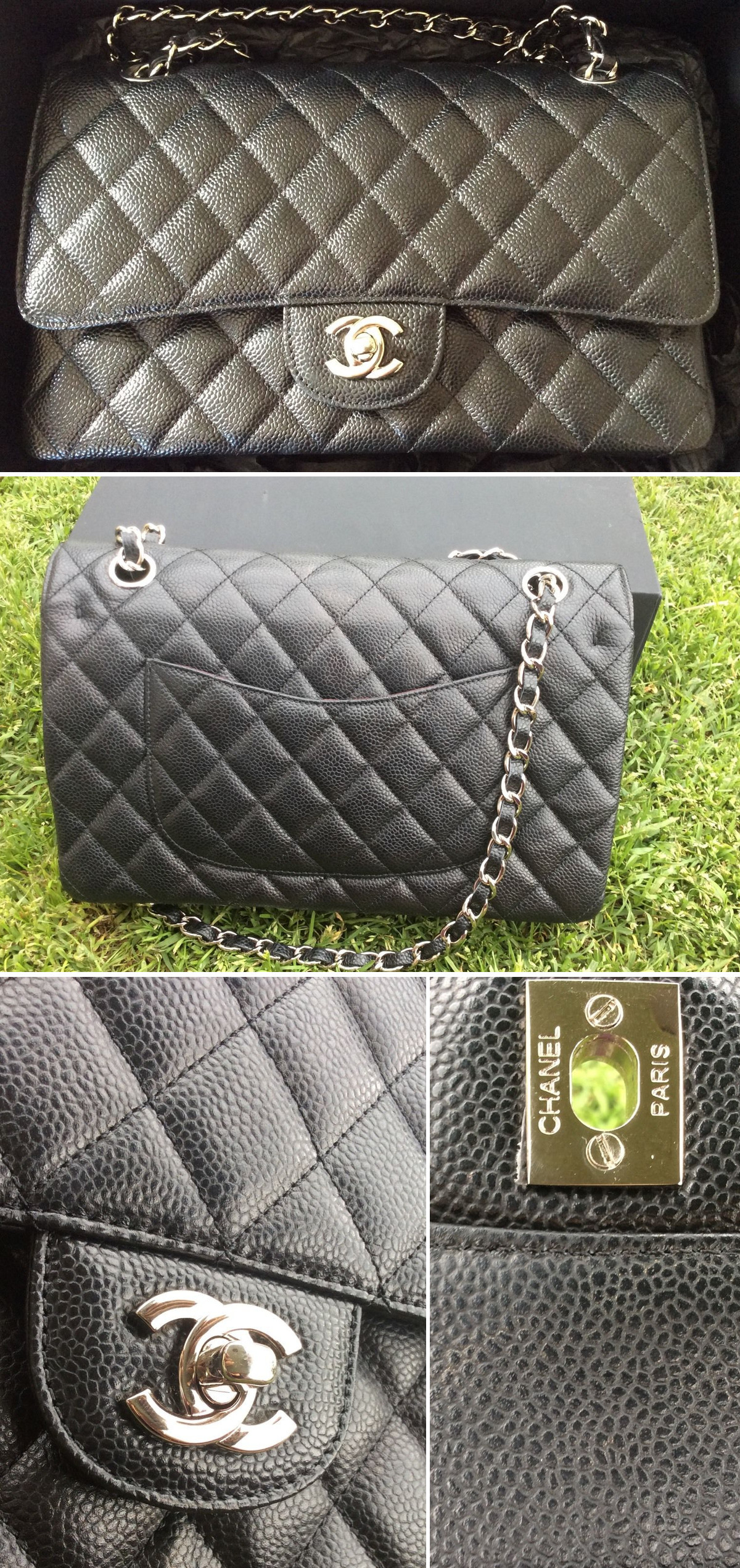 chanel medium double flap bag super fake superfake backplate