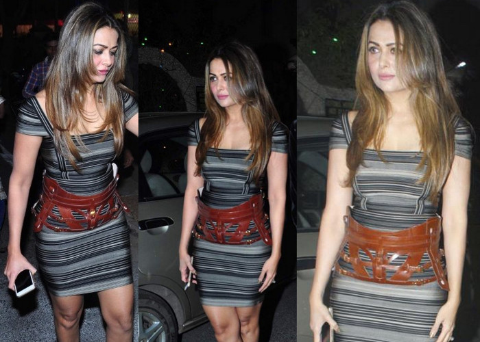 celeb celebrities wearing Herve Leger bodycon bandage tight dress clothing
