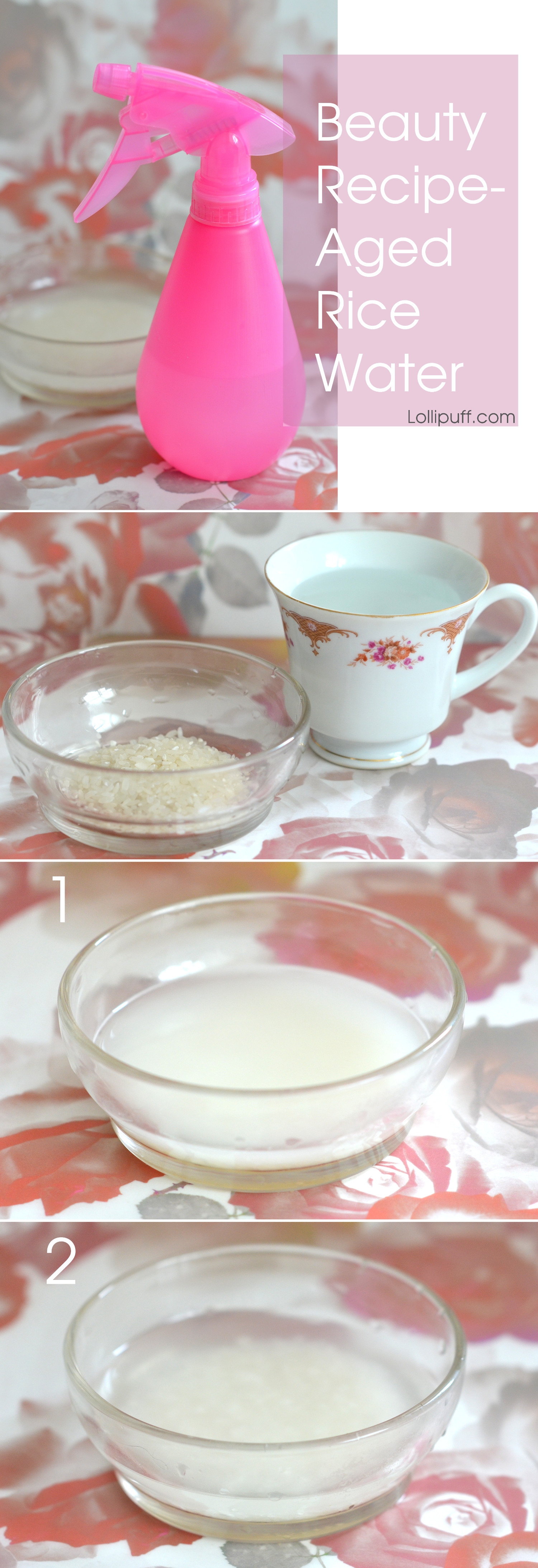 How to make rice water for hair recipe