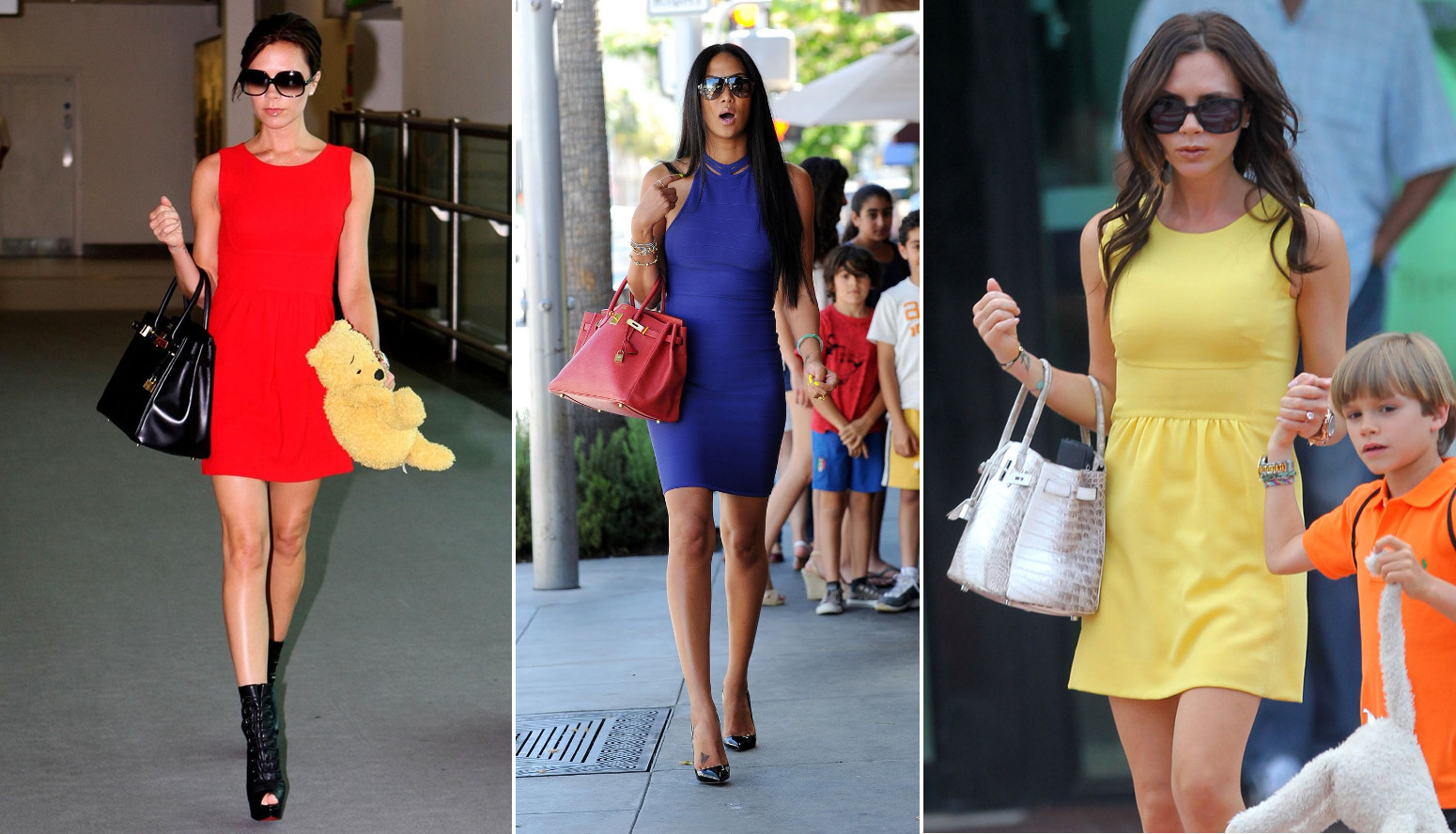 hermes birkin worn with dresses tight short mini