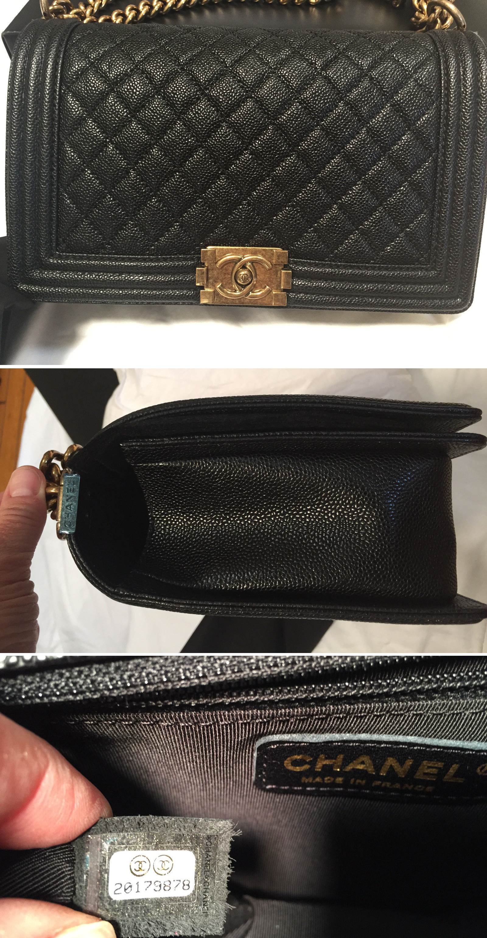 black caviar chanel le boy flap bag