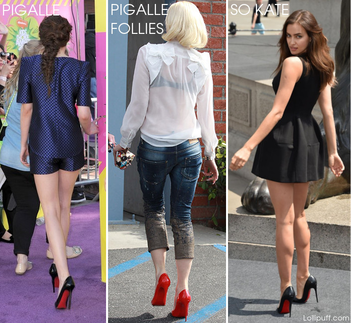 celebrities wearing louboutin pigalle