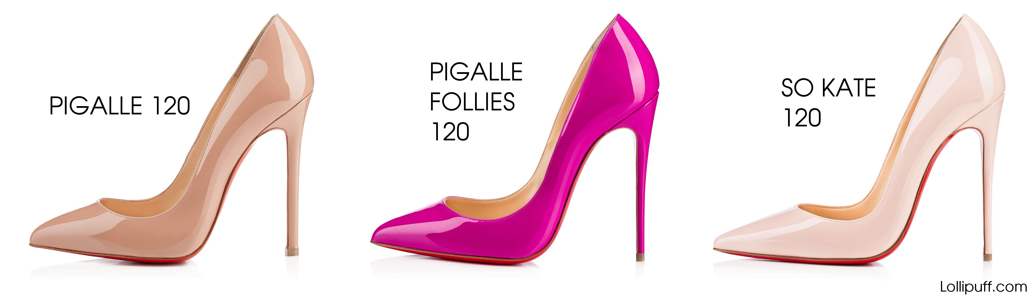 ae41eade7b90 Christian Louboutin Pigalle vs Pigalle Follies vs So Kate
