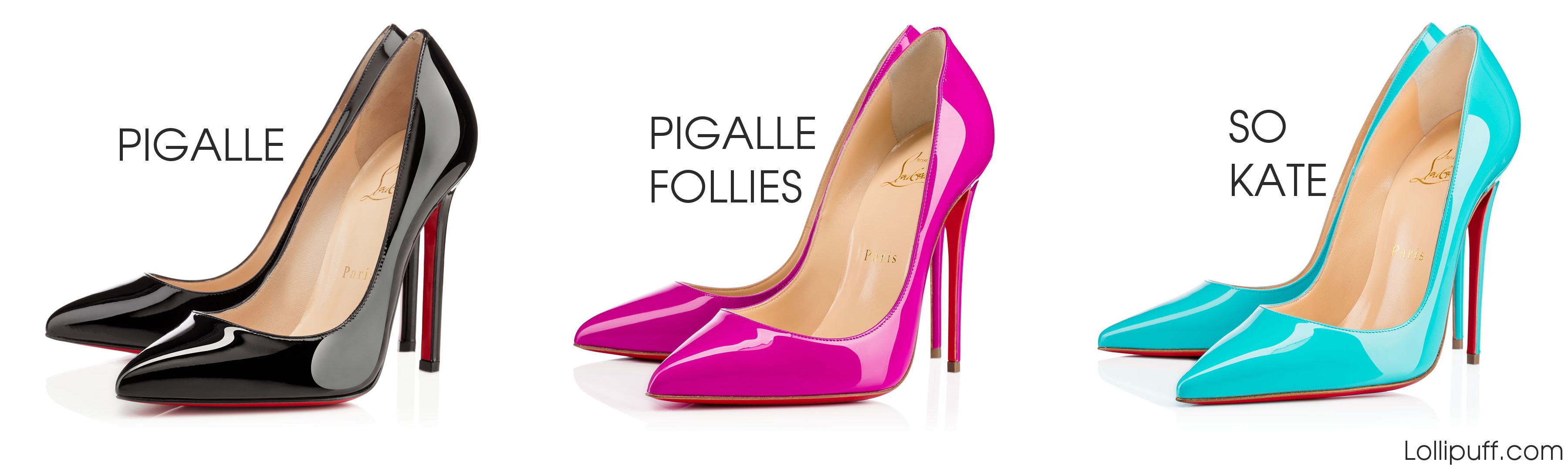 20478994462 Christian Louboutin pointed toe pumps pigalle follies so kate comparison