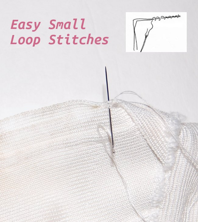 stitch for higher neckline