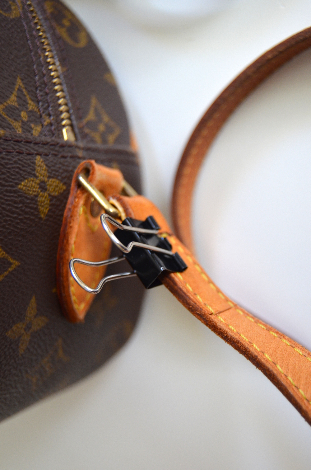 how to fix fixing torn ripped broken Louis Vuitton shoulder strap