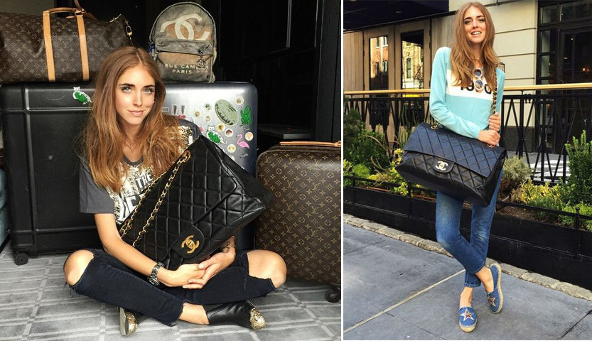 c6a76ad6cbaafe chiara blogger huge giant chanel flap bag