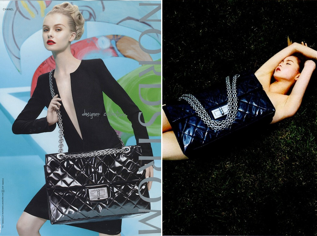 chanel ad for large reissue bag