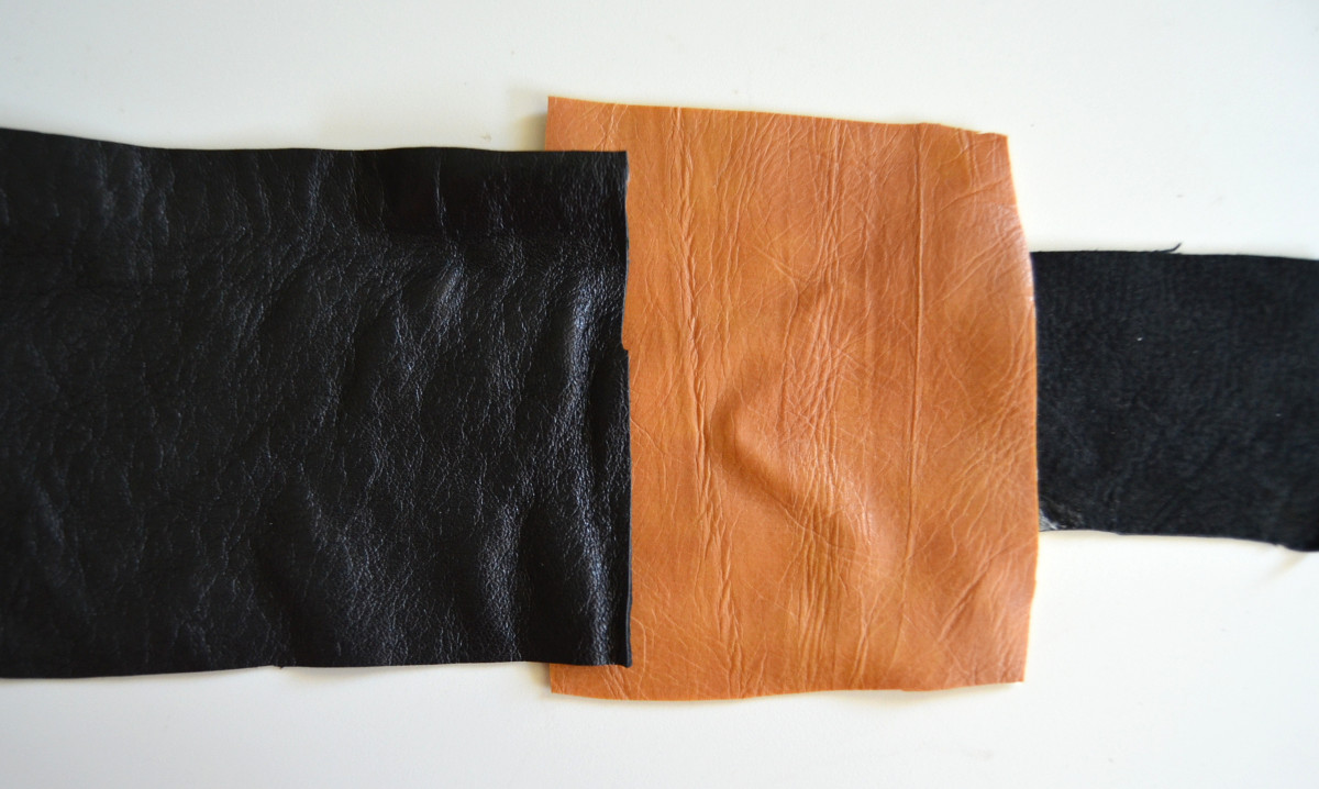 3 different leather materials