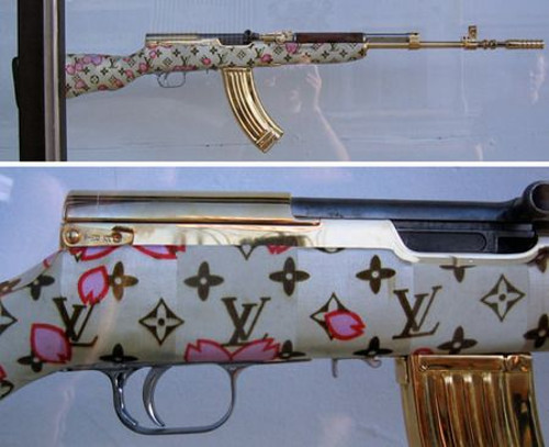 rifle with takashi monogram