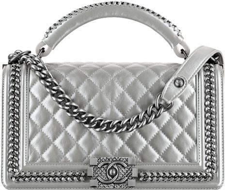 69393df2d13a58 2015 2016 Metiers D'art bag collection season handbag purse. 19. Silver  calfskin boy ...