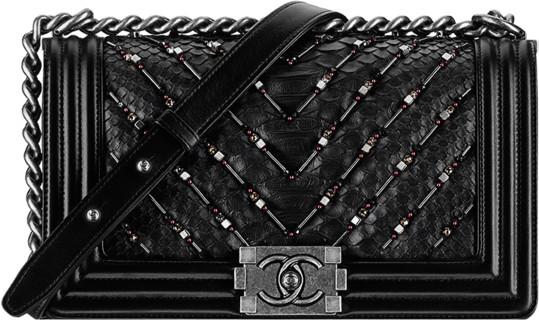 99e0a3aba703 Chanel Fall Winter 2016 2017 Pre-collection season bags bag handbag purse.  15. Black python chevron beaded boy flap