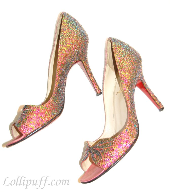 98a8ad9bd9c Completed DIY Strassed Christian Louboutin Heels   Lollipuff